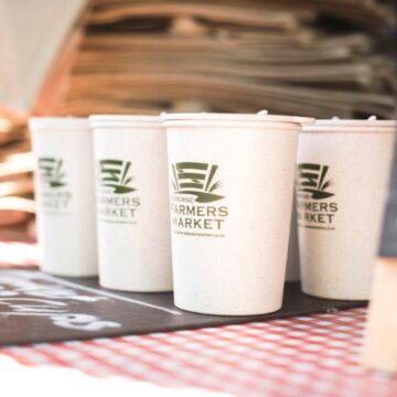 Rice husk fibre coffee cups